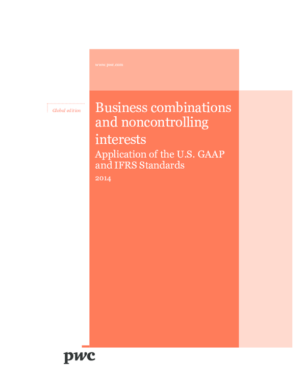 PDF) Pwc business combinations noncontrolling interests | Ravi