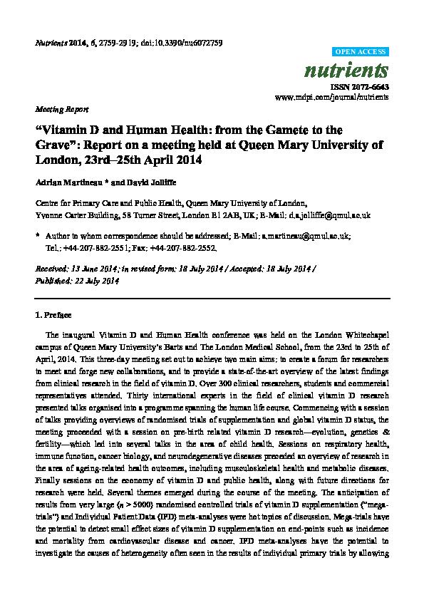 PDF) Evaluation of vitamin D status in relation to immune