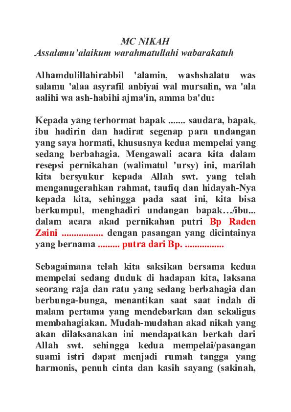 Doc Mc Nikah Muhammad Odree Academia Edu