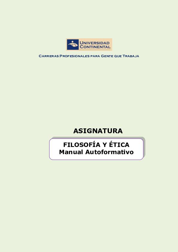Pdf Filosofía Y ética Manual Autoformativo Edy Luz Quispe