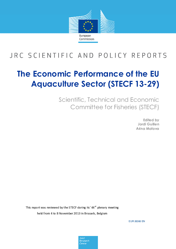 Pdf The Economic Performance Of The Eu Aquaculture Sector