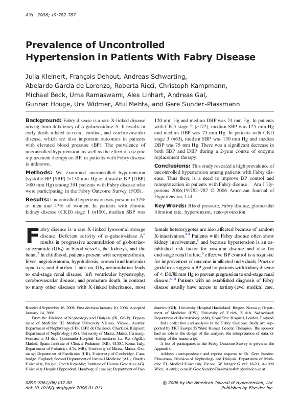 PDF) Prevalence of Uncontrolled Hypertension in Patients