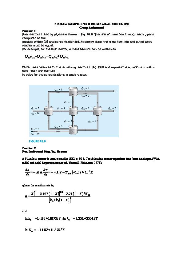 DOC) EFC1203 COMPUTING II (NUMERICAL METHODS) Group