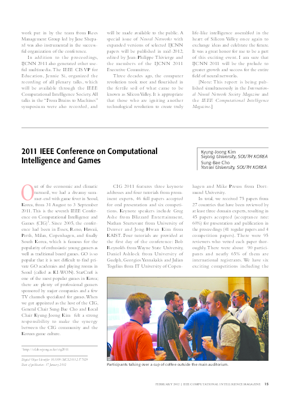 2018 IEEE Conference on Computational Intelligence and ...