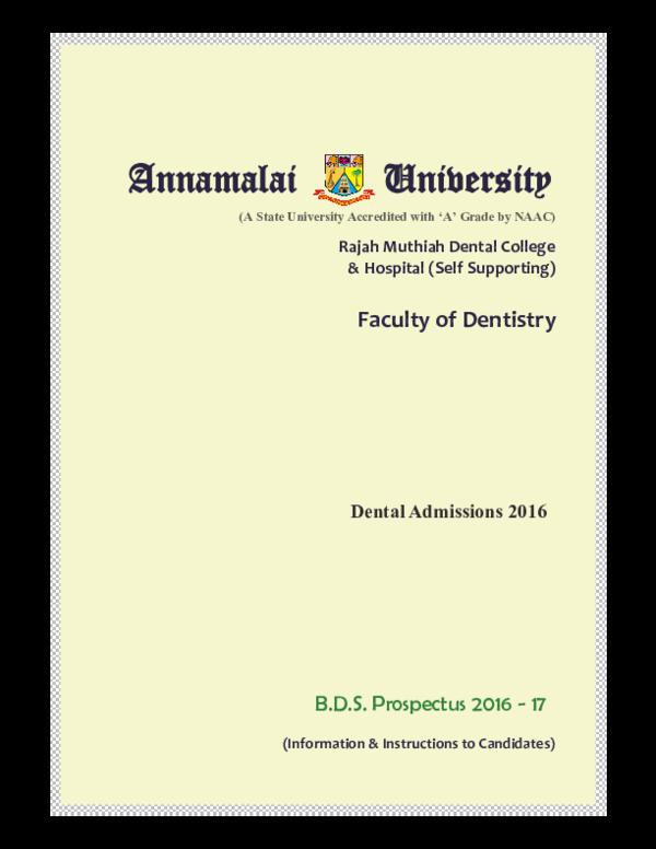 PDF) Dental Admissions 2016 | Jabeer Youssuff - Academia edu