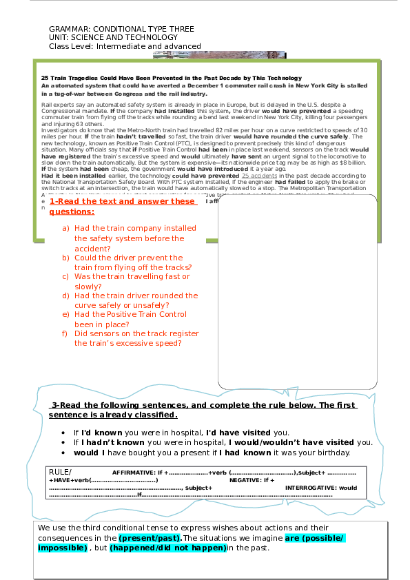 DOC) CONDITIONAL TYPE THREE | Youness Aakid - Academia edu