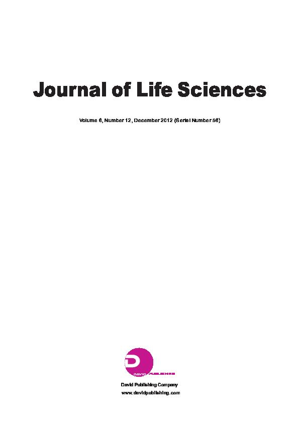PDF) Journal of Life Sciences Volume 6, Number 12, December