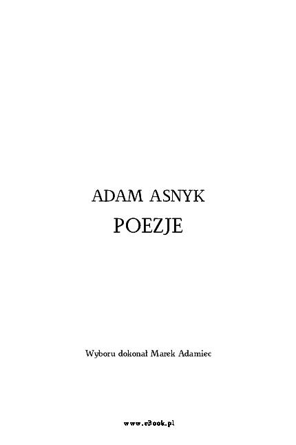 Pdf Adam Asnyk Poezje Jan Kaliszewski Academiaedu