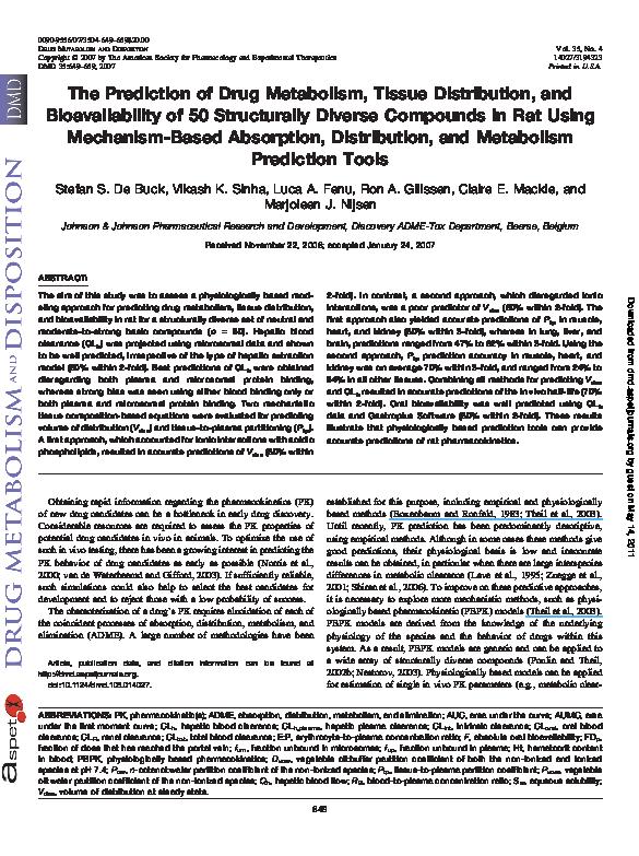 (PDF) Metabolism and Tissue Distribution of Sulforaphane