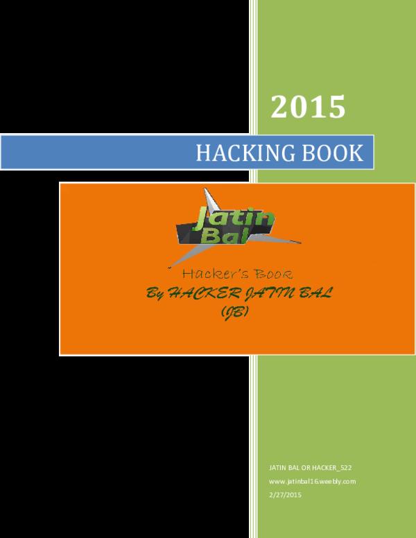 PDF) Hacking Books | Jatin Bal - Academia edu