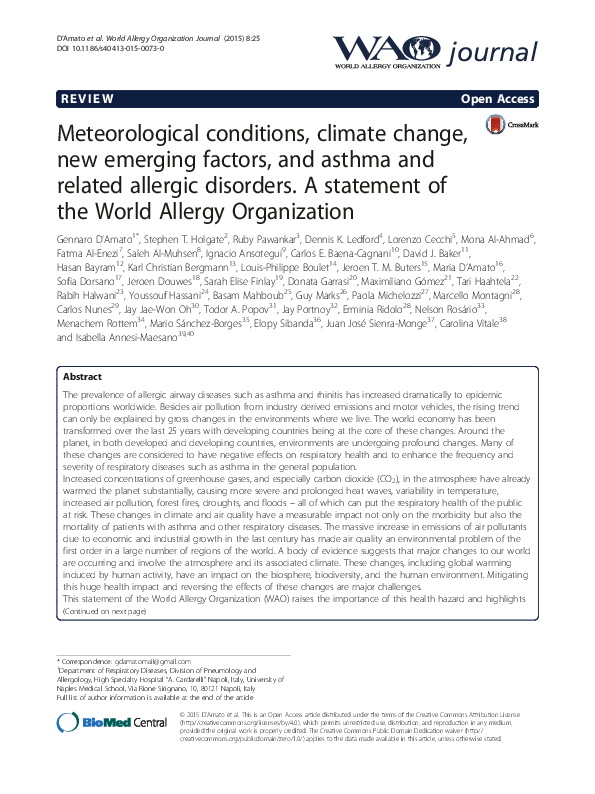 Pdf A Statement Of The World Allergy Organization Nelson Rosario Academia Edu