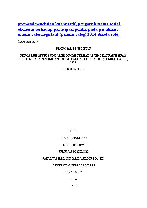 Doc Proposal Penelitian Kuantitatif Ahmad Nabhan Academia Edu