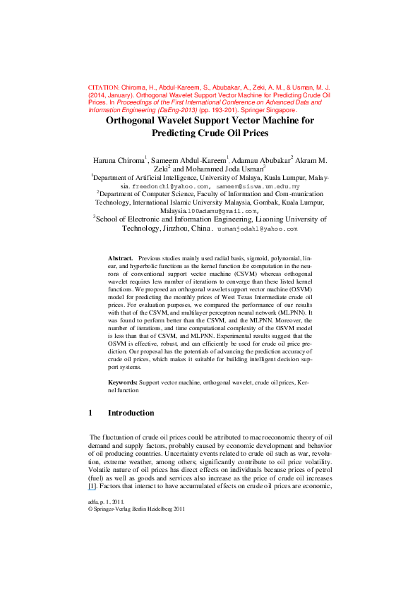 PDF) Orthogonal Wavelet Support Vector Machine for
