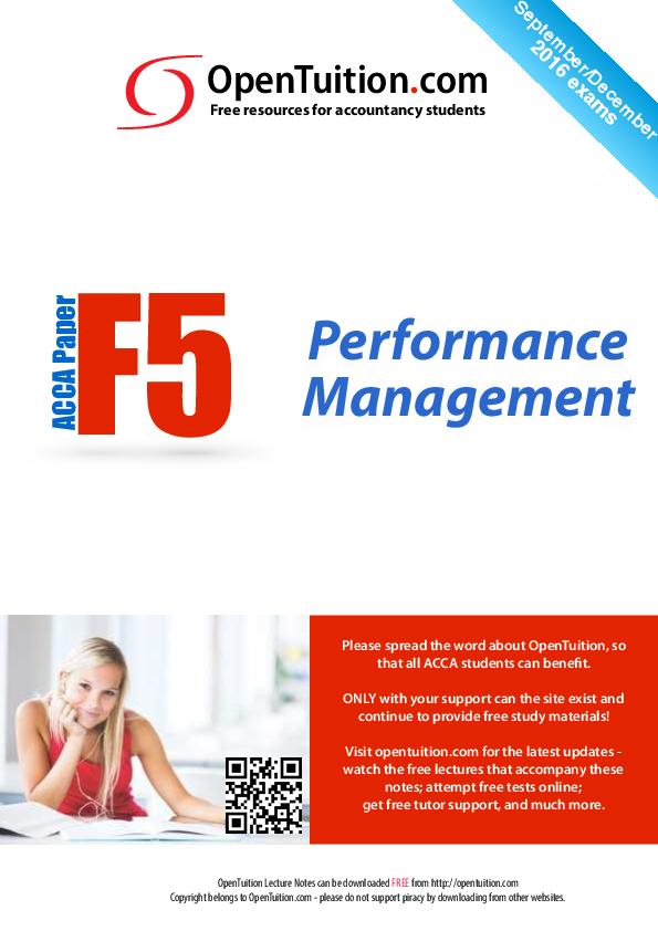 PDF) ACCA F5 S16 Notes | kevin otieno - Academia edu