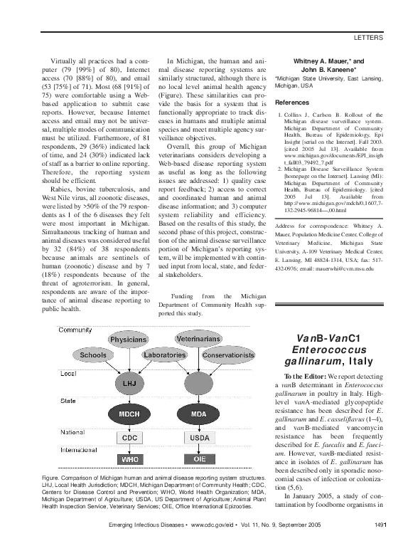 PDF) Van B- Van C1 Enterococcus gallinarum , Italy