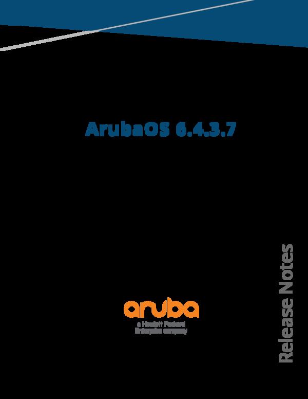 PDF) ArubaOS 6 4 3 7 Release Notes | Erick Moreno - Academia edu