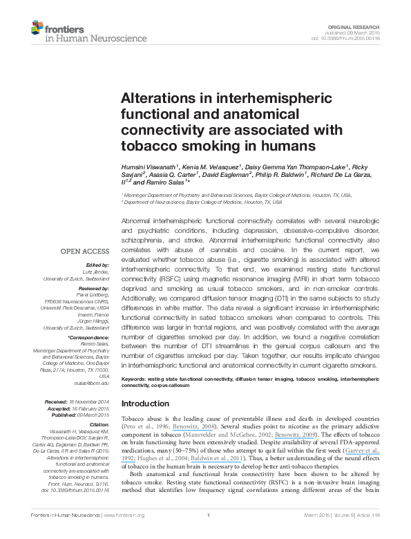 PDF) Alterations in interhemispheric functional and