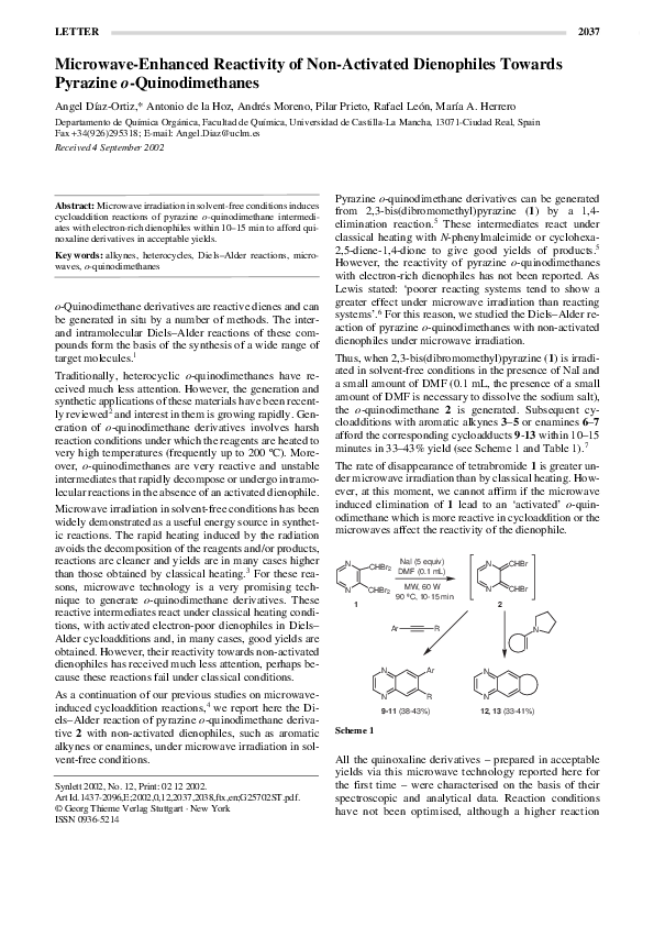 PDF) Microwave-Enhanced Reactivity of Non-Activated