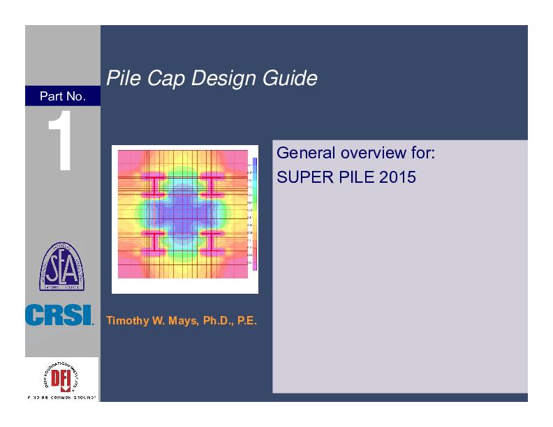 Pdf Pile Cap Design Guide Pile Cap Design Guide Ferdinand Pane Academia Edu