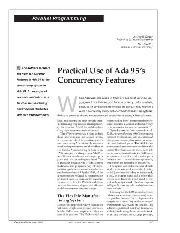 PDF) Practical Use of Ada95 Real-Time Features | Bo Sanden