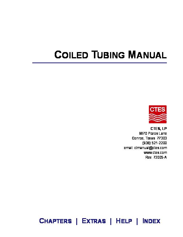 PDF) COILED TUBING MANUAL   Erlet Shaqe - Academia edu