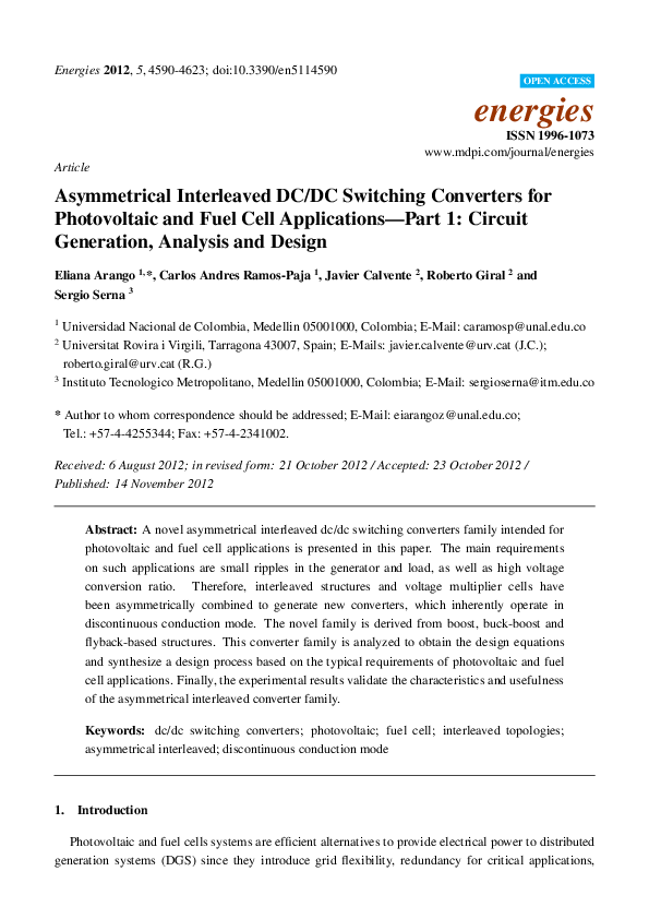 PDF) Asymmetrical Interleaved DC/DC Switching Converters for