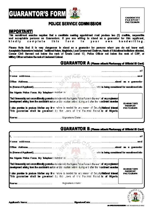 Guarantors Form   Impunity Edet - Academia edu