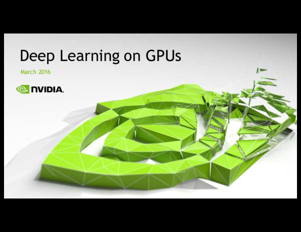 PDF) Deep Learning on GPUs | jagadish venkataraman - Academia edu