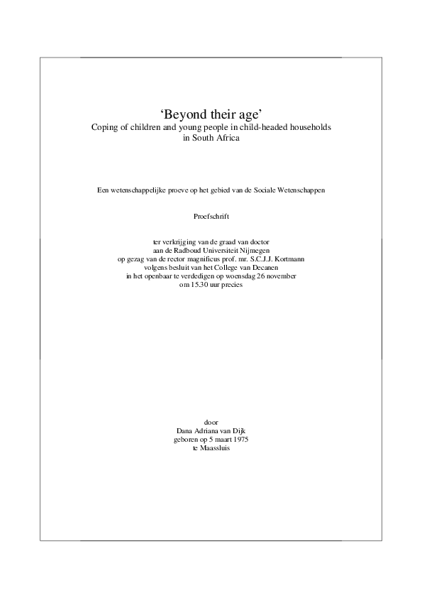 PDF) 'Beyond their age' : coping of children and young