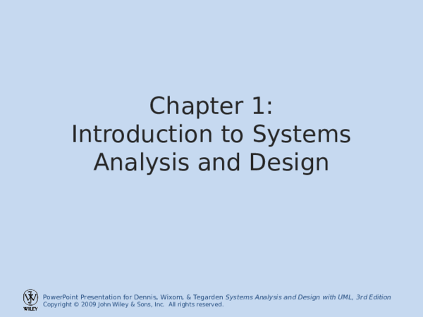Ppt Chapter 1 Introduction To Systems Analysis And Design Vincent Leong Academia Edu