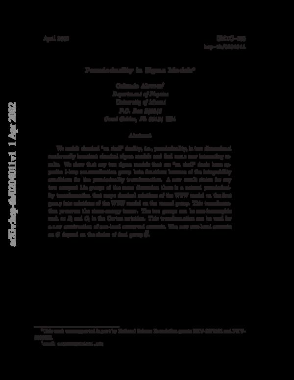 PDF) Pseudoduality in sigma models | Orlando Josue Garcia Alvarez