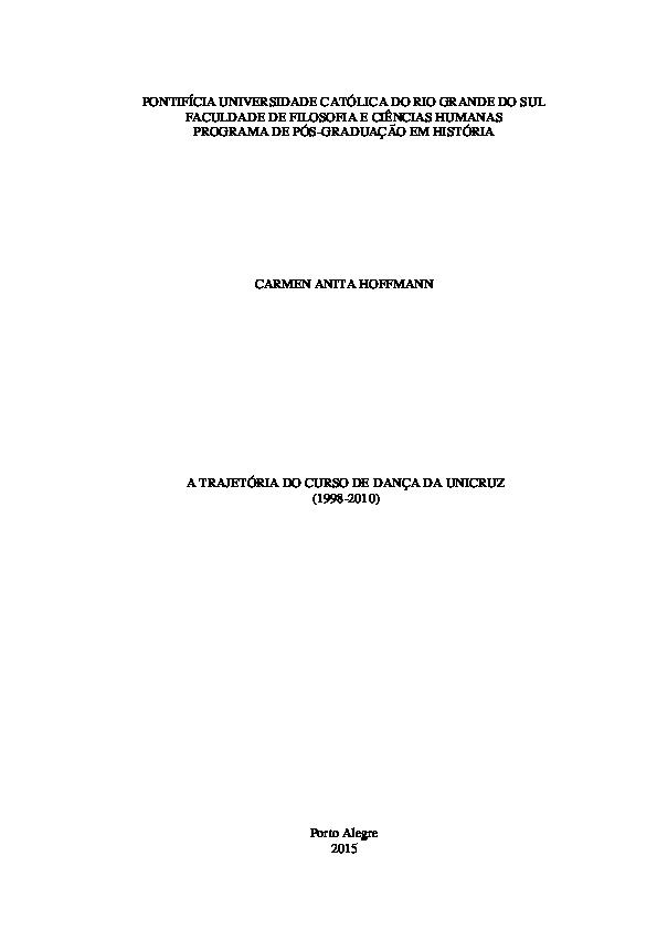 ee80503eb8 A trajetória do Curso de Dança -Carmen Hoffmann.pdf