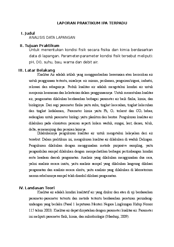 Doc Laporan Praktikum Ipa Terpadu Septian Murnawianto Academia Edu