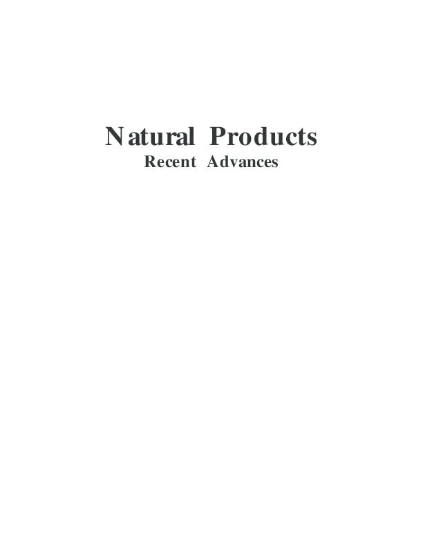 PDF) Natural Products Recent Advances | Sharad Srivastava - Academia edu