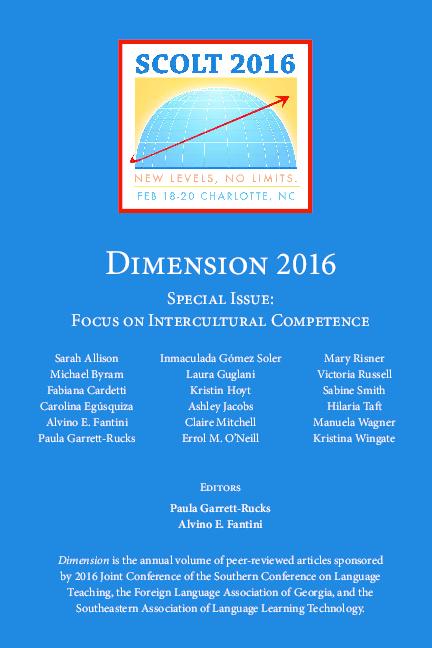 PDF) Dimension 2016 Special Issue: Focus on Intercultural