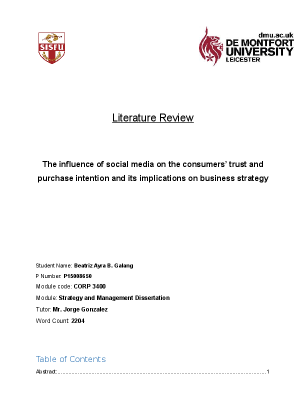 Help With A Literature Review Best Essays Writers Site For Phd  Literature Review The Influence Of Social Media On The Consumers Docx Essays  On Science Also Essay