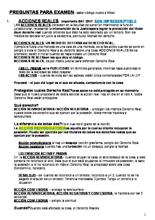 Doc Derecho Reales Examen 2 Parcial Martha Miravete Cicero Academia Edu