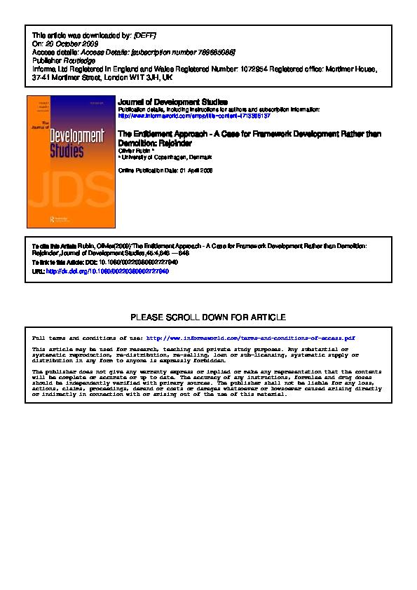 7539b8df3ac PDF) The Entitlement Approach - A Case for Framework Development ...