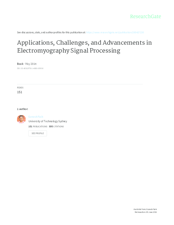 PDF) Applications, Challenges, and Advancements in Electromyography on
