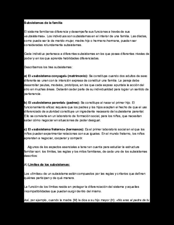 Doc Subsistemas De La Familia Giannina Constanza