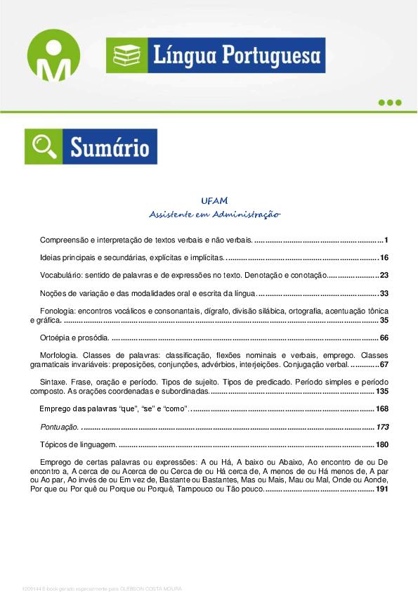 85705dc3e4d PDF) concurso lingua portuguesa