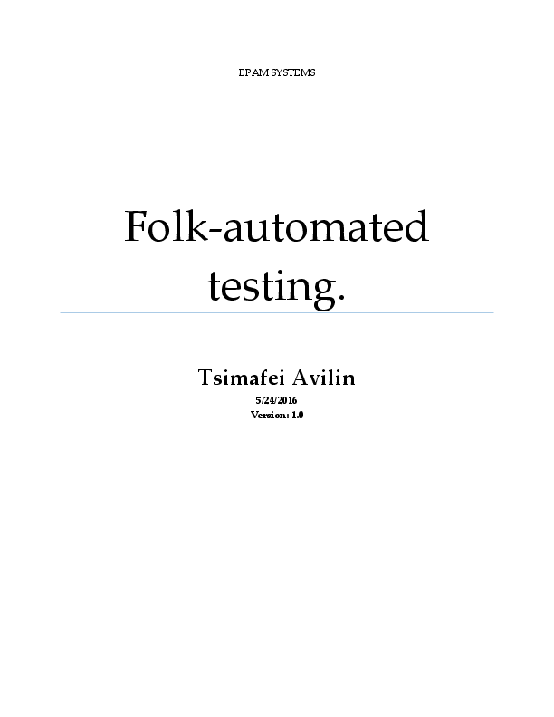 PDF) Folk-automated testing (UI Automation/White/CodedUI/PowerShell