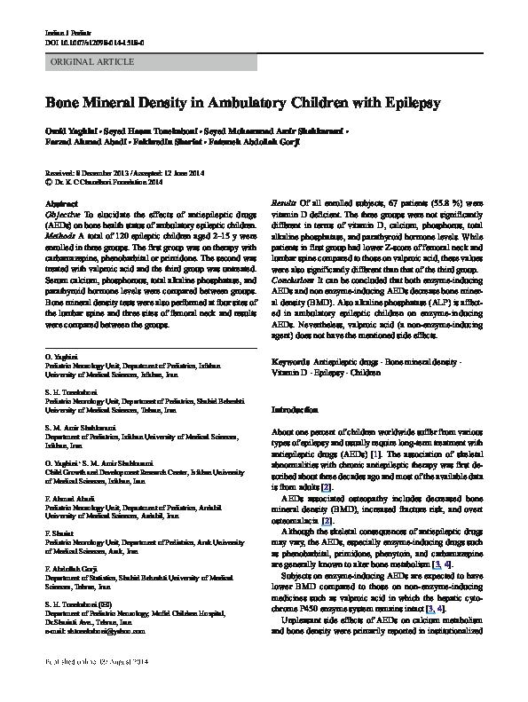 PDF) Bone Mineral Density in Ambulatory Children with