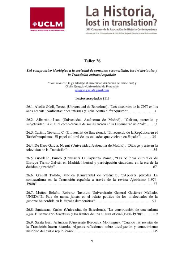 75d0979e2caba PDF) Del compromiso ideológico a la sociedad de consumo reconciliada ...
