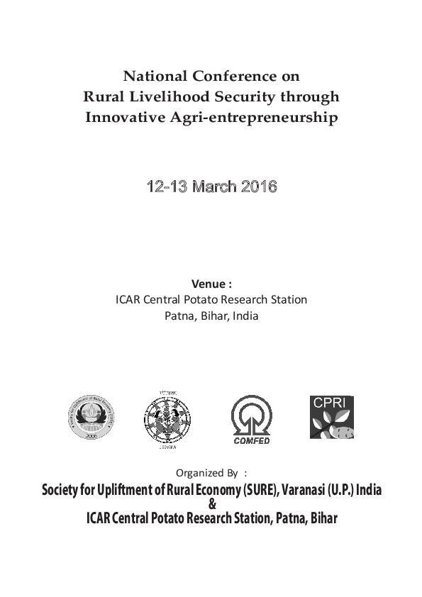 PDF) National Conference on Rural Livelihood Security through