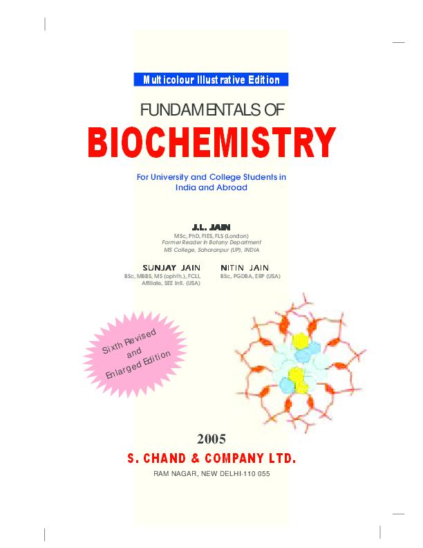 J L Jain Biochemistrypdf Ehab Aboueladab Academia