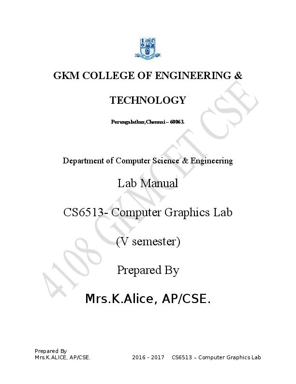 Computer practice laboratory ii manual