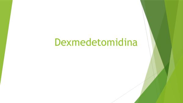 Mecanismo hipertensión reversión de dexmedetomidina