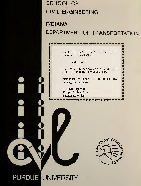 PDF) Pavement Drainage and Pavement Shoulder Joint