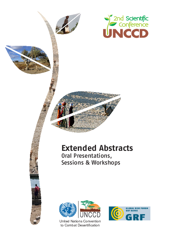 Pdf Un Conference To Combat Desertification Extended Abstracts 2013 Philip Greenwood Academia Edu